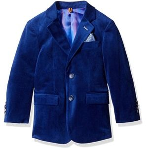 Isaac Mizrahi Boy's Blue Velvet Blazer